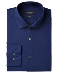 Marc New York Slim Fit Wrinkle Free Navy Solid Dress Shirt