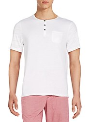 Howe Henley Pocket Tee White