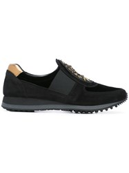 Car Shoe Metallic Detailing Sneakers Black