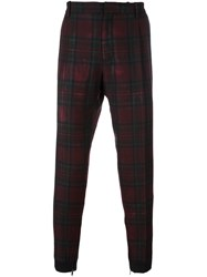 Antonio Marras Tartan Check Chinos Red