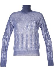 Nina Ricci Turtle Neck Jumper Blue