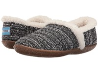 Toms Slipper Black White Boucle Women's Slippers