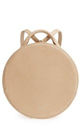 Matt And Nat Kiara Faux Leather Circle Backpack Beige Cardamon