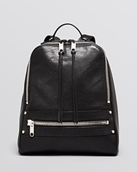Milly Backpack Riley Leather Zip Black