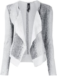 Giorgio Brato Snake Print Effect Jacket Nude And Neutrals