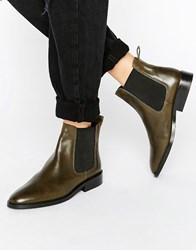 Warehouse Chelsea Boot Khaki Green