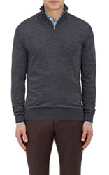 Ermenegildo Zegna Men's Wool Mock Turtleneck Sweater Dark Grey