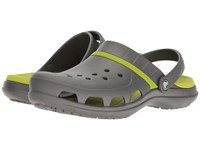 Crocs Modi Sport Clog Graphite Volt Green Sandals Gray