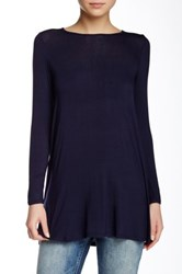 Riller And Fount Long Sleeve A Line Tunic Blue