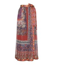 Etro Printed Silk Wrap Skirt Multicoloured
