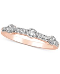 Macy's Diamond Millgrain Stackable Band 1 8 Ct. T.W. Rose Gold