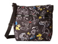 Le Sport Sac Small Cleo Crossbody Hobo Chalkboard Snoopy Cross Body Handbags Brown
