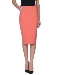 Bgn Knee Length Skirts Coral