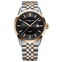 Raymond Weil 2731 Sp5 20001 'S Freelancer Automatic Date Two Tone Bracelet Strap Watch Silver Rose Gold