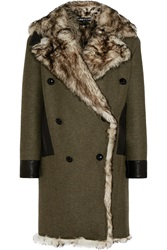Tom Ford Shearling Lined Cashmere And Wool Blend Coat