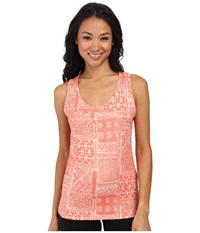 Woolrich Center Line Printed Tank Guava Women's Sleeveless Pink
