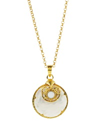 Jose And Maria Barrera Long Mother Of Pearl Pendant Necklace
