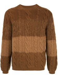 Coohem Cable Knit Jumper Brown