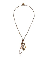 Love Heals Labradorite And Pearl Charm Necklace