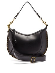Isabel Marant Naoko Studded Leather Shoulder Bag Black