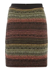 Noa Noa Short Skirt With Unique Print Multi Coloured