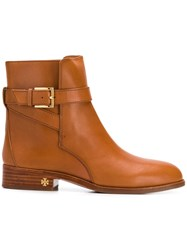 Tory Burch Brooke Ankle Boots Brown