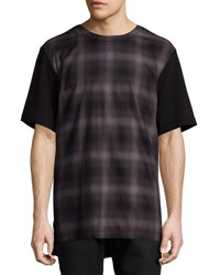 Helmut Lang Gradient Plaid T Shirt Brown