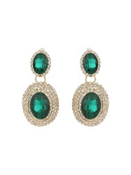 Mikey Twin Oval Stone Marquise Drop Clip On Ea Green