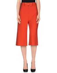 Elisabetta Franchi Trousers 3 4 Length Trousers Women Red