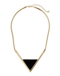 Panacea Statement Triangle Collar Necklace Black