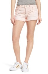 7 For All Mankindr Women's Mankind Cutoff Denim Shorts Sun Bleached Peony