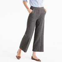 J.Crew Wide Leg Wool Pant In Houndstooth