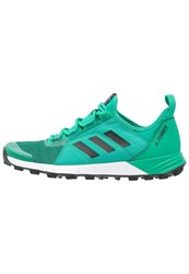 Adidas Performance Terrex Agravic Speed Trail Running Shoes Core Green Core Black