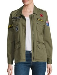 Velvet Andreea Patch Cotton Army Jacket Forest Green