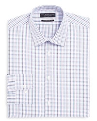 Bloomingdale's The Men's Store At Check Multi Overcheck Regular Fit Dress Shirt Purple Multi