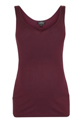 Topshop Maternity Rib Vest Top Berry Red