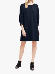 French Connection Abelena Jersey Cropped Sleeve Dress Utility Blue