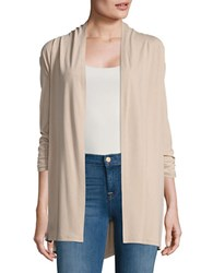 Context Solid Open Front Cardigan Taupe Sand