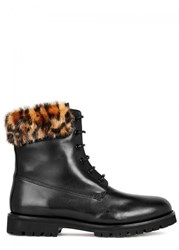 Mr And Mrs Italy Black Leather Ankle Boots