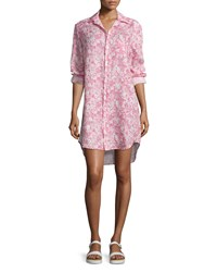 Frank And Eileen Mary Floral Print Shirtdress Pink Multi Pink Multi