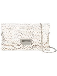 Inge Christopher Chain Strap Clutch Bag White