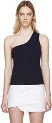 Jacquemus Navy Single Shoulder Marcel Top