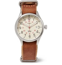 Timex Waterbury United Stainless Steel And Leather Watch Brown