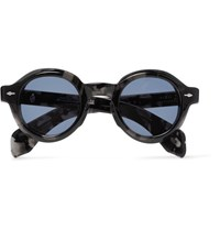 Jacques Marie Mage Stendhal Round Frame Tortoiseshell Acetate Sunglasses Gray