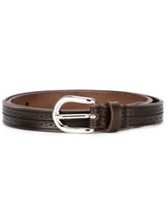 Isabel Marant Perforated Detail Belt Brown