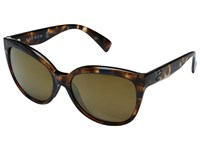 Kaenon Lina Crystal Oasis Brown 12 Polarized Gold Mirror Sport Sunglasses