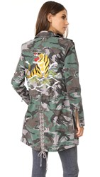 Pam And Gela Embroidered Parka Camo