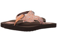 Reef Smoothy Red Blue Men's Sandals