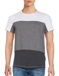 Kenneth Cole Hi Lo Block Striped Tee Charcoal