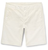 Albam Cadet Stretch Cotton Shorts Ivory